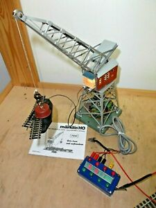 Märklin H0 7051 Remote Controlled Crane With Lifting Magnet Tested