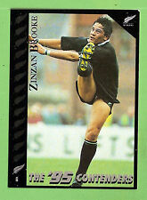 1995 NEW ZEALAND  ALL BLACKS RUGBY UNION CARD  #6  ZINZAN  BROOKE