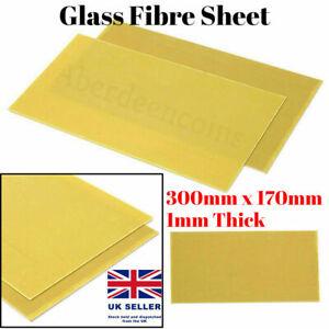 Glassfibre Sheet Epoxy Glass Fiber 1mm G10 Fibreglass Plate 300mm x 170mm Yellow