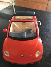 Barbie Volkswagen Beetle Convertible Vehicle Radio Shack No Remote
