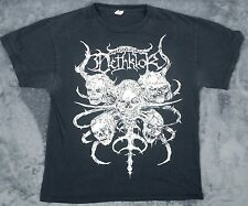 DETHLOK METALOCALYPSE DISTRESSED FADED BLACK T SHIRT M SKULL METAL ROCK LOGO