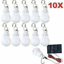 Outdoor 15W Rechargeable Solar Powered Led Bulb Lamp Home Camping Tent Light Us