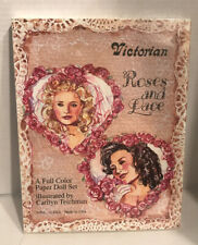 Victorian Roses and Lace Paper Doll Set by Carilyn Teichman Sealed Box