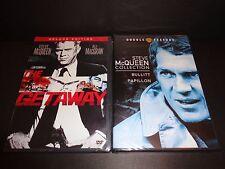 THE GETAWAY w/BULLITT-PAPILLON Double Feature-2 DVDs-STEVE McQUEEN, Ali MacGraw