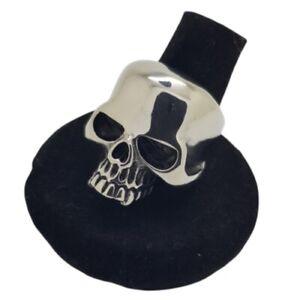 Skull Head Ring Gothic Punk Biker Polished Mens Women Stainless Steel Vampire