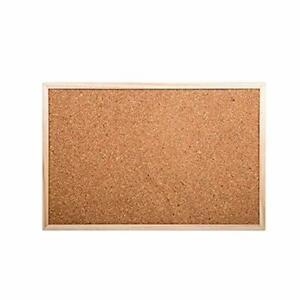 CTG Small Bulletin Cork Board Presentation Boards 11.5 x 17.5 inches Beige 1 Pc