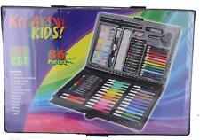 86pc Art Carry Case Kids Colouring Pencils Paints Crayons Felt Tip Pens Set