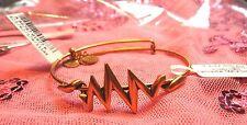 Alex and Ani Lightning Wrap Gold Bangle Bracelet rare retired a11ewb119rg
