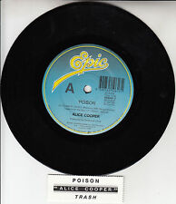 "ALICE COOPER  Poison 7"" 45 rpm vinyl record + juke box title strip"