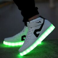 Men's Shoes LED Light Luminous Shoes Sportswear Sneakers Casual Dance High Top