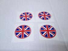 "2 PAIR 7/8"" BRITISH FLAG ENGLAND UK BANGER HOT ROD RACING PEEL-N-STICK DECALS"