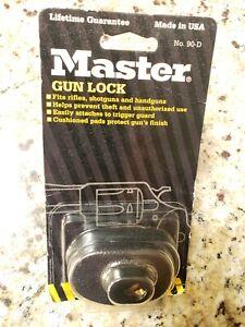 Master Gun Lock Keyed No.-90D For Rifle, Shotgun, Pistol