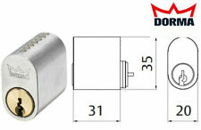 Scandinavian oval lock cylinder Dorma DC 3003 5 keys 7 pin Assa Ruko analog