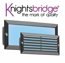 Knightsbridge LED Bricklight Outdoor Brick Light Blue/Black Fascia Low Energy