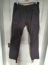 H&M Regular Fit Cargo Trousers Anthracite Grey - W32