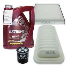 Filterset XL Toyota Yaris 1.0, 1.3 VVT-i / 5W-40 Öl API SN/CF, ACEA A3/B4