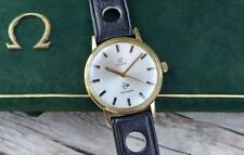 1970 Omega DUNLOP AUSTRALIA solid gold gents watch + box 9ct 9k vintage rally