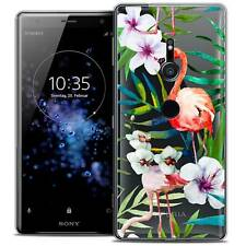 """Coque Crystal Gel Pour Sony Xperia XZ2 (5.7"""") Souple Watercolor Tropical Flaming"""