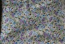 Blue and Purple Floral Calico Fabric 2 1/2 yards