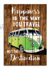 Happiness is the way you travel Camper Van Sign , Retro Sign, Wooden Plaque