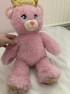 Disney Princess Build a Bear Limited Edition Soft Plush Toy Pink Tiara Talking