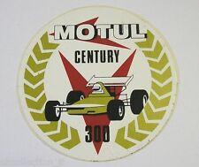 ADESIVO AUTO anni '80 / Old Sticker MOTUL CENTURY 300 (cm 12)