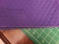 """BRIGHT PURPLE PRE-QUILTED COTTON FABRIC BY THE HALF YARD 18""""X42"""" NEW not precut"""