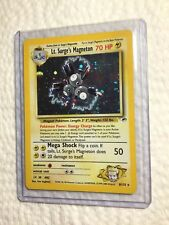 Lt. Surge's Magneton - 8/132 Gym Heroes - Holo Pokemon Card - EXC/NEAR MINT