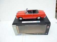 1:18 WELLY DIECAST Peugeot 403 Cabrio in Red  W/ OPENING PARTS M BOX