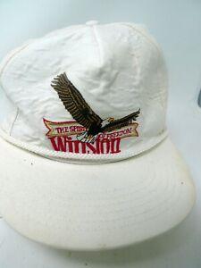 VTG Challenger Cap WINSTON Spirit of Freedom Embroidery Baseball Hat Snapback