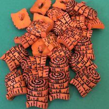 6 X 24 mm Orange cinta métrica en forma de botones #1064