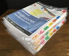 Huge Lot 27 Packs Office Depot Single Pocket 8 Tab Dividers Multicolor Tabs