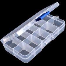 Clara compartimentos falsas Arte en Uñas Puntas Caja de almacenamiento caso ss