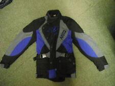 Akito Cougar Medium Mens Black Blue & Grey Textile Motorbike Jacket