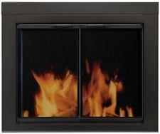Glass Fireplace Screen Doors Surface Mount Mesh Panels Alpine Medium Black New
