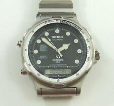 Seiko H601-8029 802L R Analog Digital Sports 100 Quartz Men's Watch Beautiful!