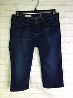 AG Adriano Goldschmied Womens Size 25 The Malibu Bermuda Blue Denim Jean Shorts
