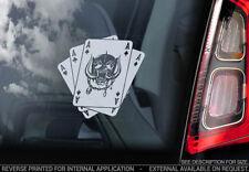 MOTORHEAD Car Sticker - Warpig Playing Cards Decal Window Bumper Decal Sign -V03