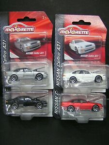 Majorette Metal DieCast model cars - NISSAN Cefiro A31- set of 4 pcs