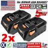 2X 18V 4.0AH Hyper Li-Ion Battery For Ridgid AEG R840087 R840085 R840086 R840083