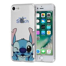 Custodia Cover TPU Silicone Ultra-sottile Disegno Stitch per Apple iPhone 7 4.7""