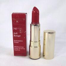 Clarins Moisturizing Long Wearing Lipstick ~ 742 Joli Rouge ~ .1 oz BNIB
