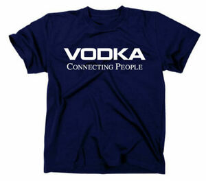 Vodka Connecting People Fun T-Shirt Wodka Funshirt Nokia Funny Spruch Logo