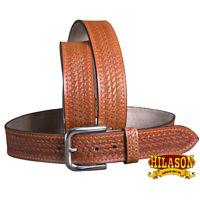 C-4-38 38 in Leather Gun Holster Belt Handmade Concealed Carry Stitch Hilason