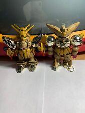 "SD Gundam Force 4.5"" Gold Figures 2003 Bandai Lot Of 2"