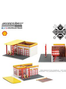 Greenlight  Mechanics Corner SHELL Oil Vintage Gas Station