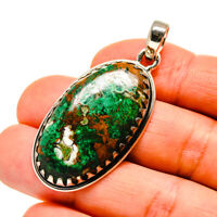"""Chrysocolla 925 Sterling Silver Pendant 2"""" Ana Co Jewelry P746543"""