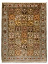 Tapis rectangulaire avec un motif Oriental pour la maison, en 100% soie