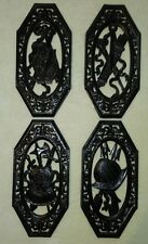4 Vintage Homco Spanish Gothic Medievil ARMOR COAT OF ARMS WALL PLAQUES DECOR