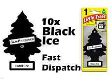 "MAGIC TREE ""LITTLE TREE"" BLACK ICE FRAGRANCE CAR AIR FRESHENERS PACK OF 10"